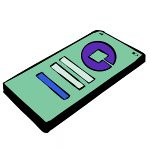 Green and Purple Communer mobile app