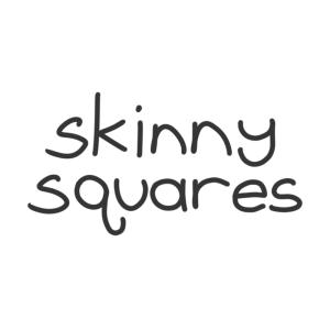 Skinny Squares handwritten logo