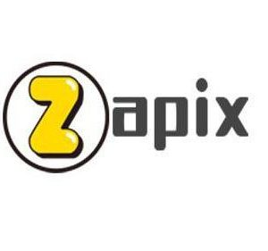 Zapix logo, the Z being yellow with a black circle around it.
