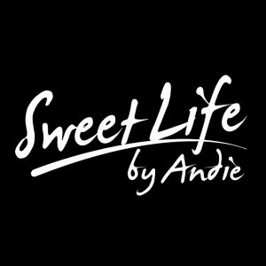 Sweet Life by Andie stylized text black and white logo